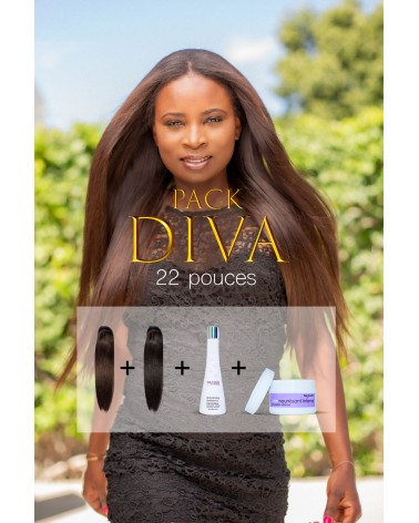 Pack Diva Tess Coiffure Tissage Straight Haut de Gamme RAW Hair