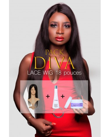 Pack Diva Lace Wig Straight 18 pouces TopCanon TesSCoiffure